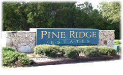 Pine Ridge Estates Florida - Sign